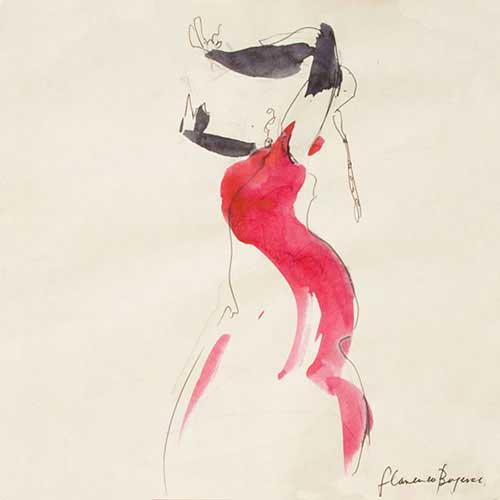 flamneco dancer gesture drawing