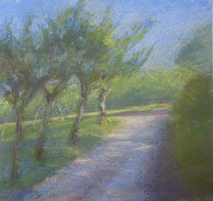 'Evening Shadows' Pastel by Eleanor