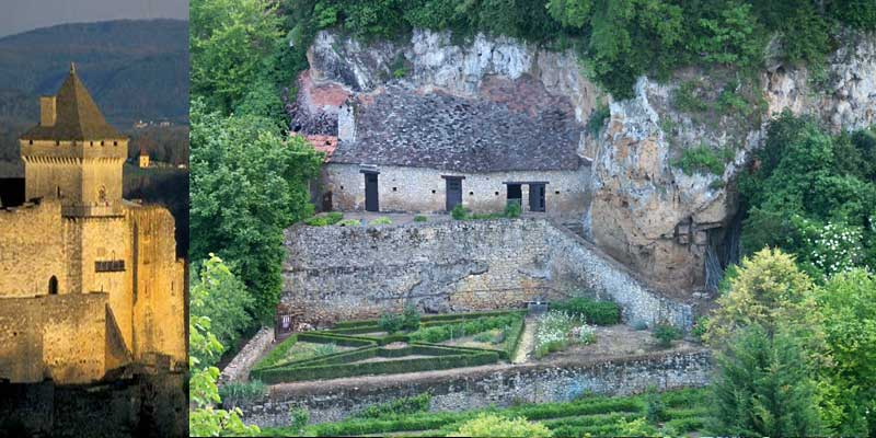 garden in dordogne - trodoglydte house in cliff
