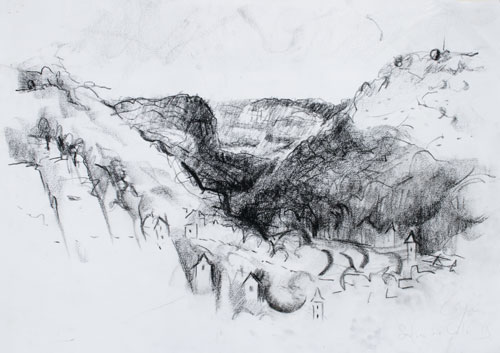 saulaic drawing cliffs south france