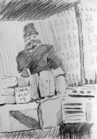 'Cantal 43,95€ le Kilo' Graphite. A5 sketchbook