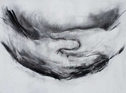 'Dhyana' 1994. Charcoal. 22 x30 inches