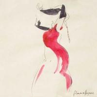 'Flamenco, Bergerac' - watercolour & pen