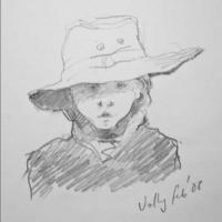 ' Val. Feb 2008' Age 4. Pencil