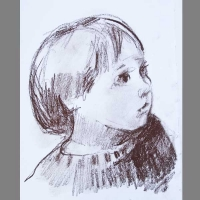 'Val. Feb 2009' Age 5. Pastel
