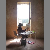 Solitary Painter in the Presbytère
