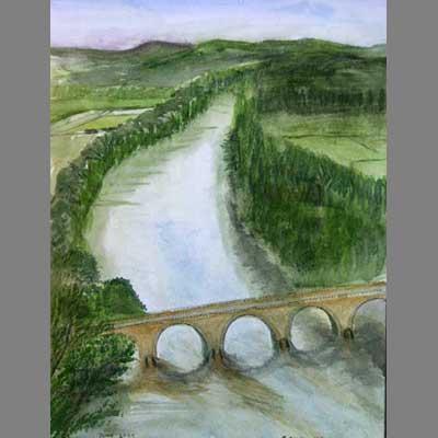 Bridge by John. Absolute beginner level watercolour.