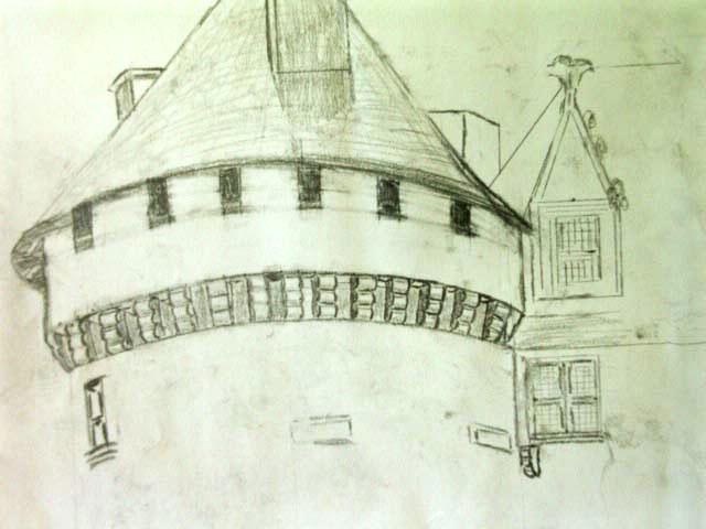 pencil drawing of machicholli