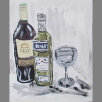 'Absinthe' by Niel. Absolute beginner acrylic painting by the end of the week.