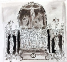 'Alter Piece' by Eve, Pen & Ink