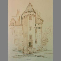 Architectural style of drawing of the Chateau