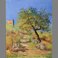'Pilgrim's Path' By Janetta. Oil. Advanced level.