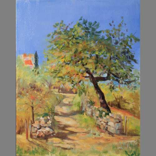 'Pilgrim's Path' By Janetta. Oil. Advanced level.