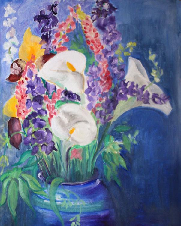 'Flowers' Alkyd by Susie