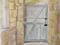 'Terrace Door, St Avit' by Alan. Watercolour.