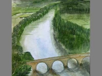 Bridge by John. Absolute beginner level watercolour.