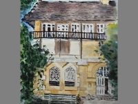'La Chapelle' - watercolor by Gabrielle