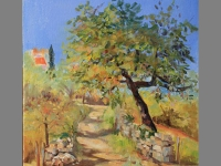 'Le Chemin' by Janetta. Plein air oil painting.