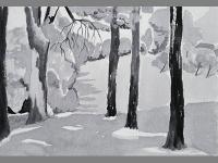 monotone watercolor