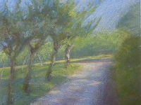 pastel of driveway by Eleanor