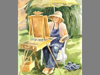 'Vivien Painting' by Cathy