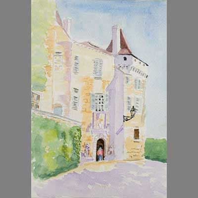 'South Facade of Chateau de Béduer' by Chris.