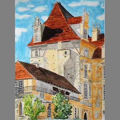 'Chateau de Lanquais' by Peter
