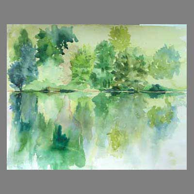 'Reflections' by Cathy. Advanced level watercoolur.