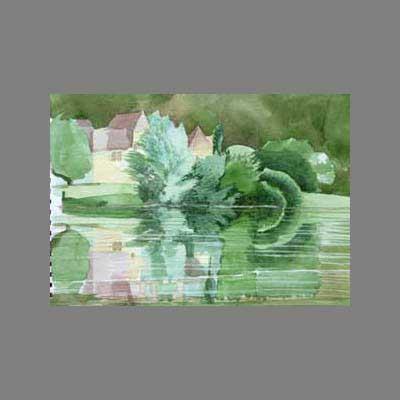 'The river' watercolour