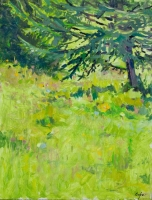 'Spring Grass' Oil on Panel, 30 x 40 cm