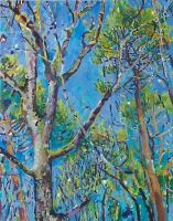 'Wild Wood at the Time of the Vernal Equinox' Oil on Canvas, 96 x 76 cm