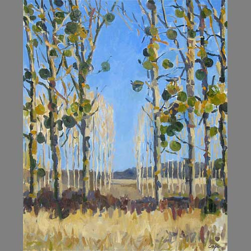 'Mistletoe' Left-hand side of Diptyche. 65 x 54 cm