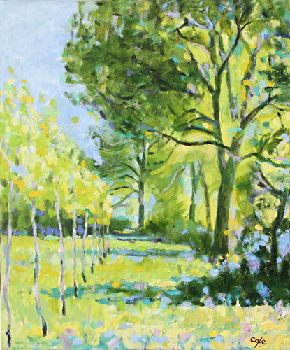 'Poplar & Ash - Spring' Oil. 48 x 36 cm