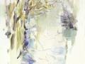 Berges du Dropt' Watercolour. 28 x 38 cm.