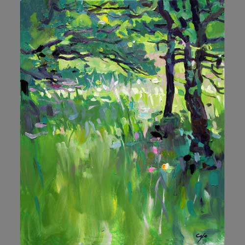 'Le Truffier 1' (Truffle Woods) Oil. 36x 48cm (approx 15 x 14 inches)
