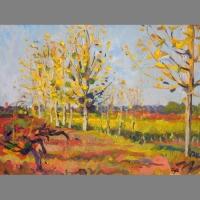 'Côtes de Duras A.O.C.' Oil 30 x 40 cm. Sold.
