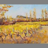 'Vignoble, Boisse, Bergerac A.O.C.' Oil. 65 x50 cm. Available