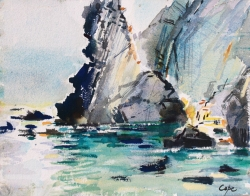 \'Playa de Silencio\' aquarelle.24 x 32 cm. Available