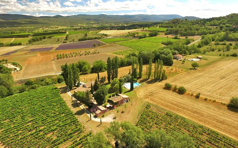 aerial view provencal landscape