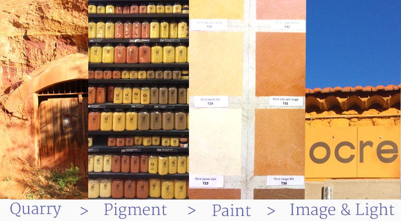 ocre pigments artists paints image light