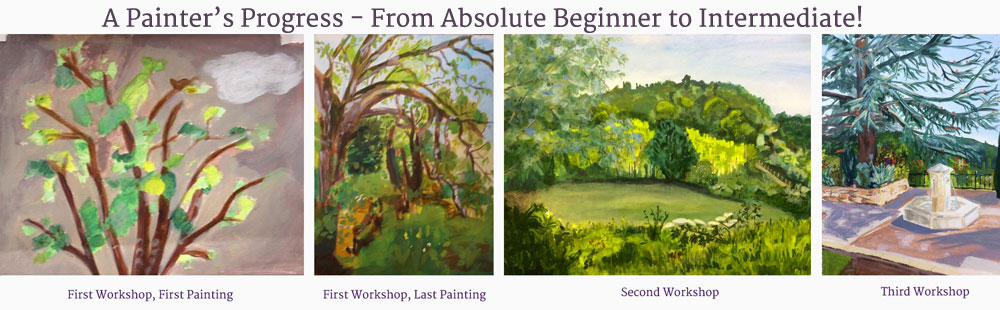progrees painter before & after art course