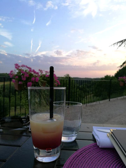 apperitif cocktail sunset