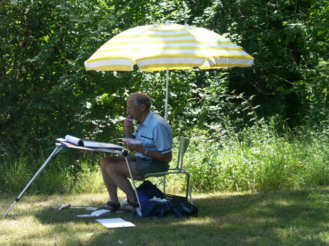 plein air painting student