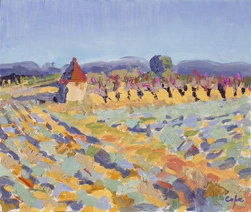 lavender cherries oil painting provence demonstration art holiday