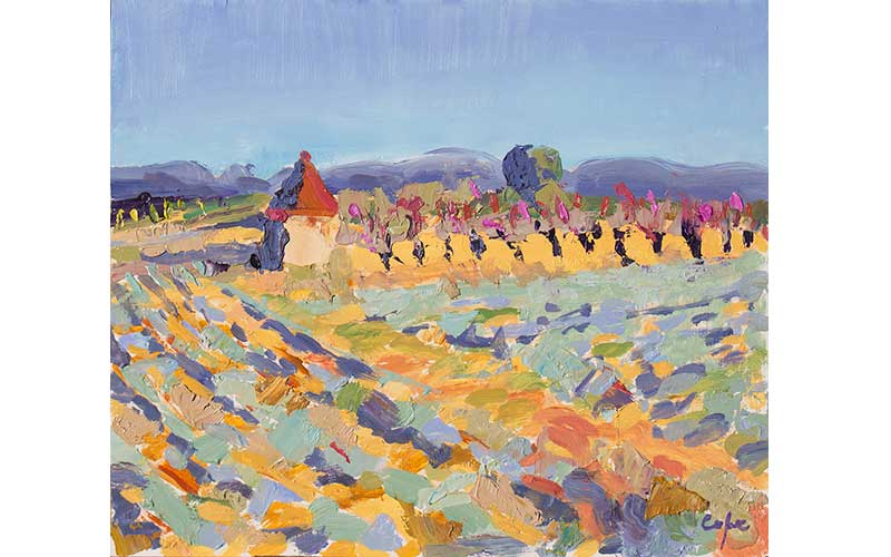 PAINTING OF LAVENDAR PROVENCE