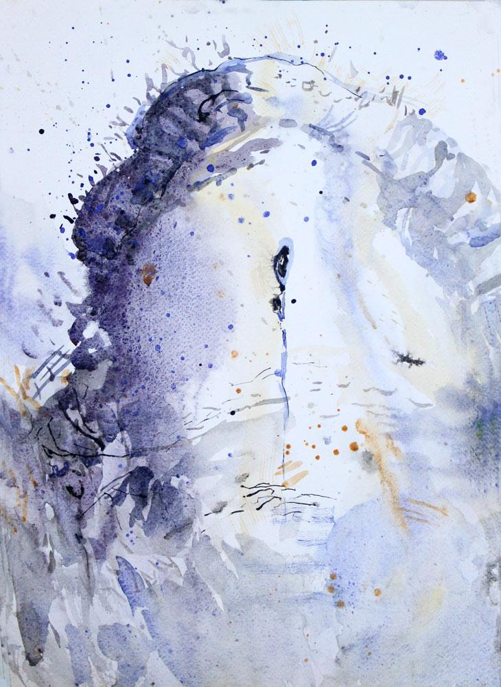 prehistoric landscape painting vezere aquarelle falaise