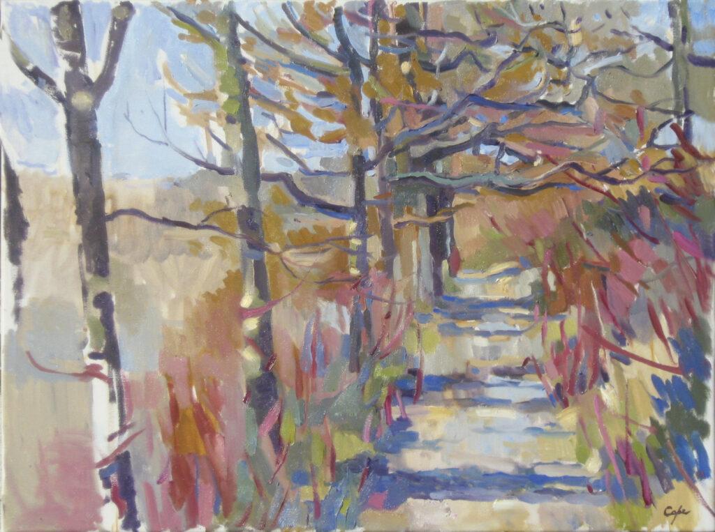 colourist plein air alla prima winter woods