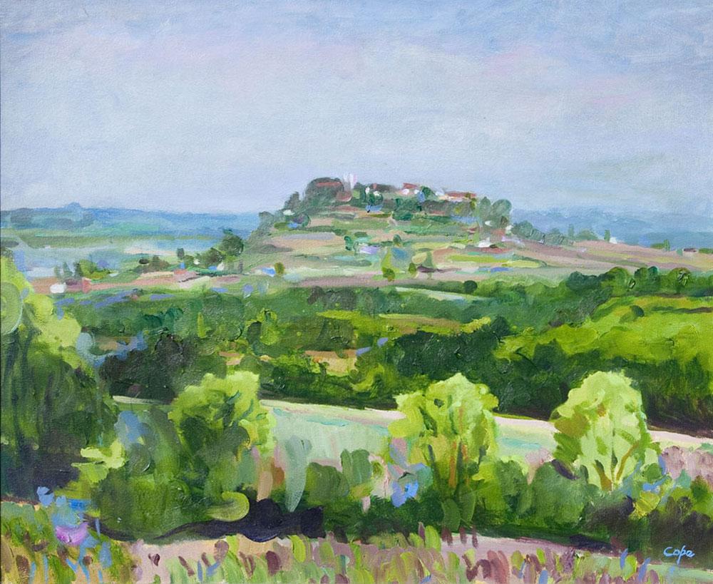 paysage sud ouest, france,Monflanquin, village perche,Pluie, green lanscape