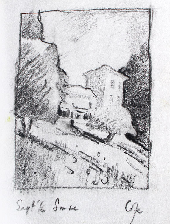 prep darwin, graphite, thumbnail compoisti, sketch