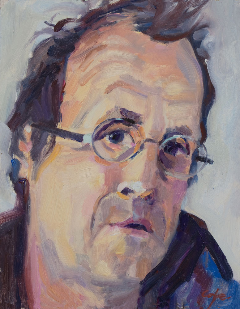 self portrait, artist, il painting, colourist